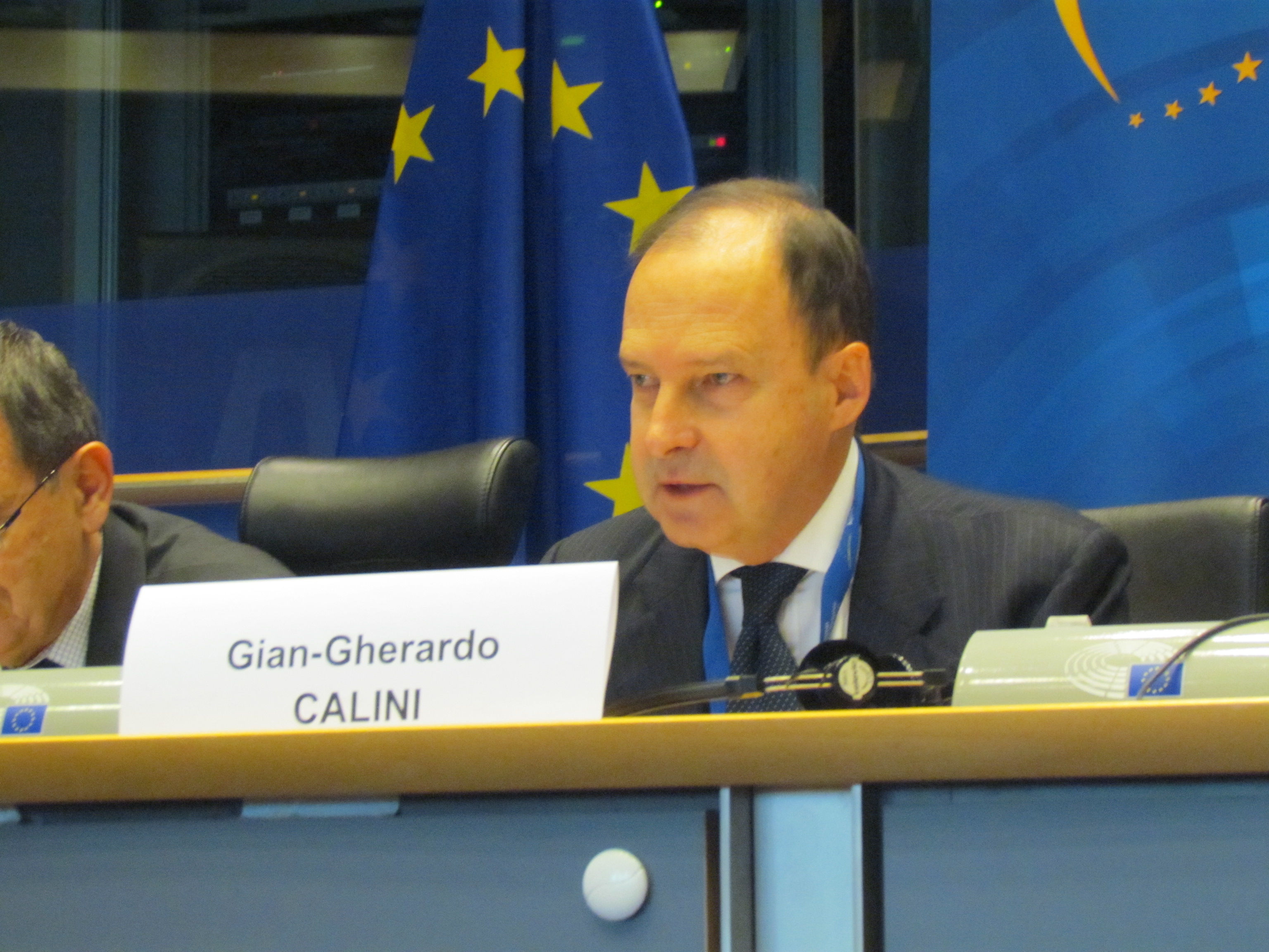 The GSA's Gian-Gherardo Calini speaking at the EBAA debate