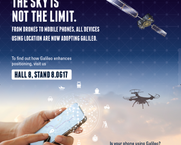 Is your phone using Galileo? If so, come visit us in Hall 8, Stand 8.0G17 to get your free 'I #UseGalileo' t-shirt.