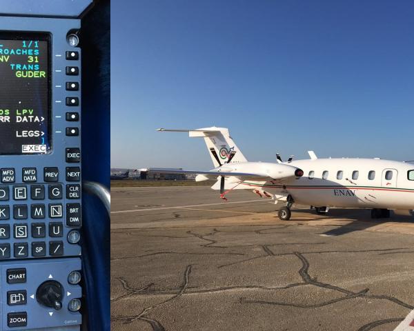 ENAV flight inspection aircraft used in BLUEGNSS project ©ENAV S.p.A.